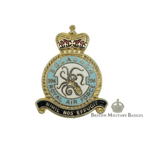206 Squadron Royal Air Force Lapel Badge RAF