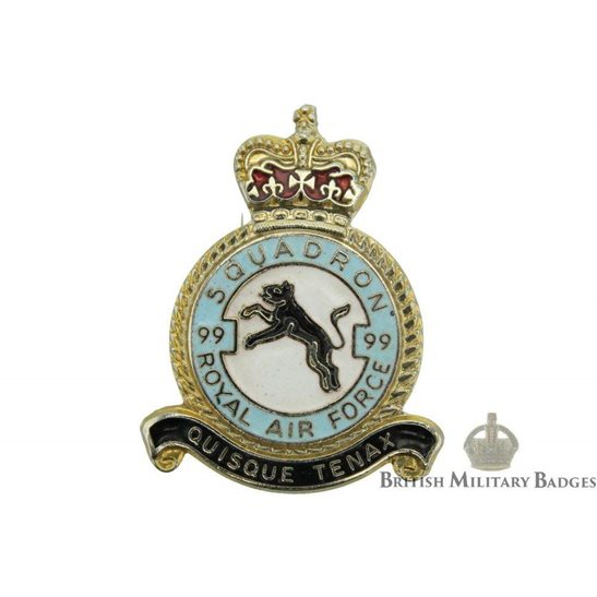 99 Squadron Royal Air Force Lapel Badge RAF