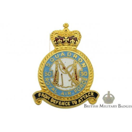 50 Squadron Royal Air Force Lapel Badge RAF