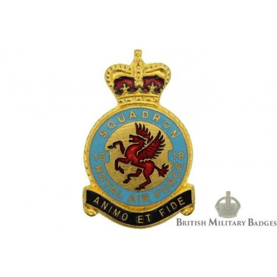 18 Squadron Royal Air Force Lapel Badge RAF