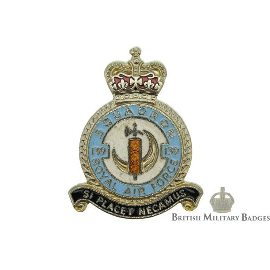 139 Squadron Royal Air Force Lapel Badge RAF