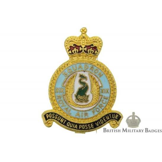 19 XIX Squadron Royal Air Force Lapel Badge RAF