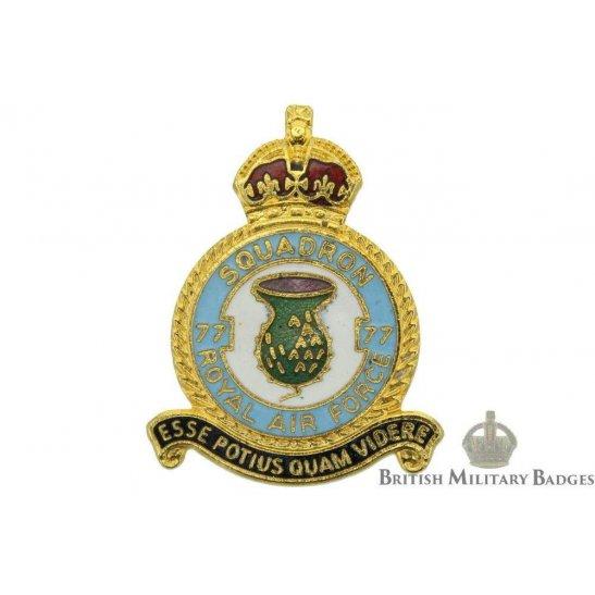 77 Squadron Royal Air Force Lapel Badge RAF