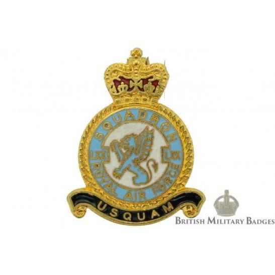 70 LXX Squadron Royal Air Force Lapel Badge RAF
