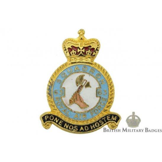 63 Squadron Royal Air Force Lapel Badge RAF