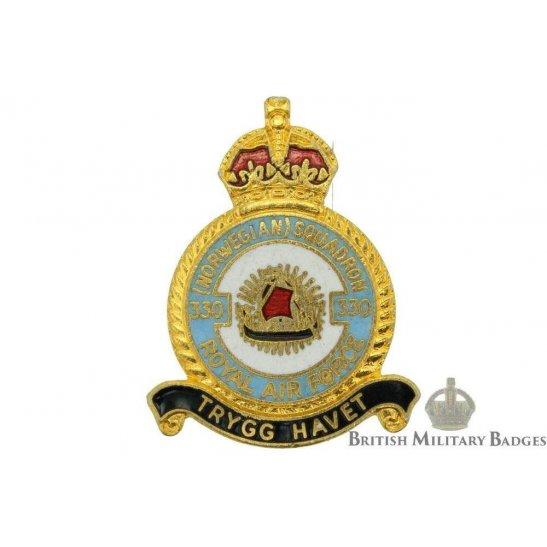 330 Norwegian Squadron Royal Air Force Lapel Badge RAF