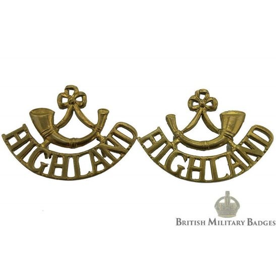 Highland Light Infantry Regiment HLI Shoulder Title PAIR