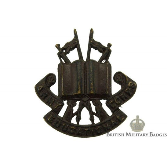 Army Educational Corps OFFICERS Bronze Collar Badge