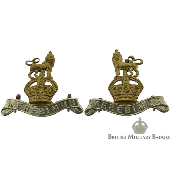 15th The Kings Hussars Regiment (King's) Collar Badge PAIR