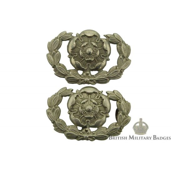 Hampshire Regiment Volunteers Battalion Collar Badge PAIR