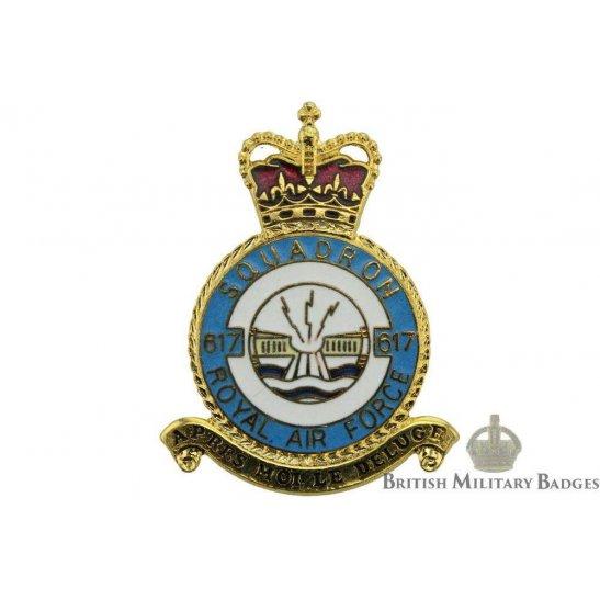 617 (Dambusters) Squadron Royal Air Force PLAQUE Badge RAF