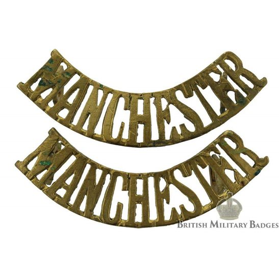 Manchester Regiment Shoulder Title PAIR