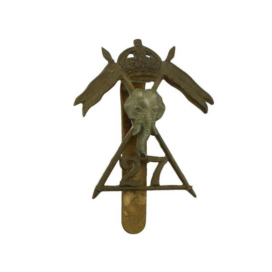 27th Lancers WW2 ISSUED 27th Lancers Regiment Cap Badge
