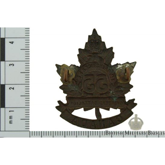 additional image for WW1 Canadian 55th Battalion (New Brunswick & Prince Edward Island) CEF Cap Badge
