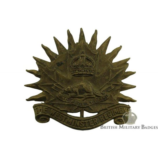 WW2 Canadian Army WW2 Canadian Westminster Regiment CEF Cap Badge