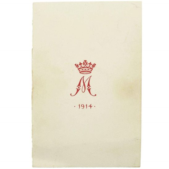WW1 Princess Mary 1914 Christmas Tin Contents - 1914 Xmas Card