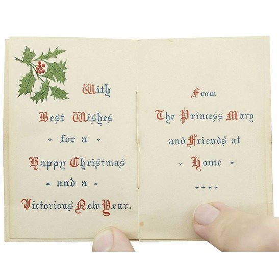additional image for WW1 Princess Mary 1914 Christmas Tin Contents - 1914 Xmas Card
