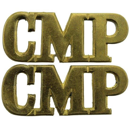 Corps of Military Police CMP WW1 Corps of Military Police CMP Shoulder Title PAIR