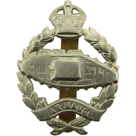 Royal Tank Regiment WW2 Royal Tank Regiment Cap Badge - SLIDER VERSION