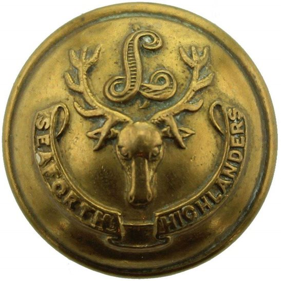Seaforth Highlanders Seaforth Highlanders Scottish Regiment SMALL Tunic Button - 19mm