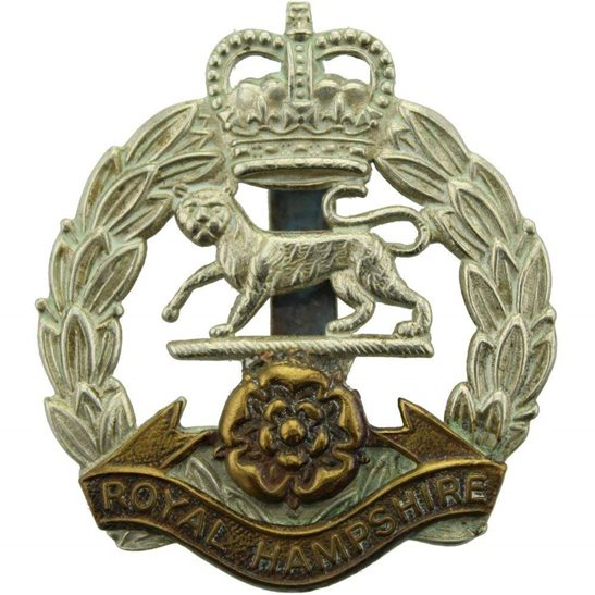 Hampshire Regiment Queens Crown Royal Hampshire Regiment Cap Badge