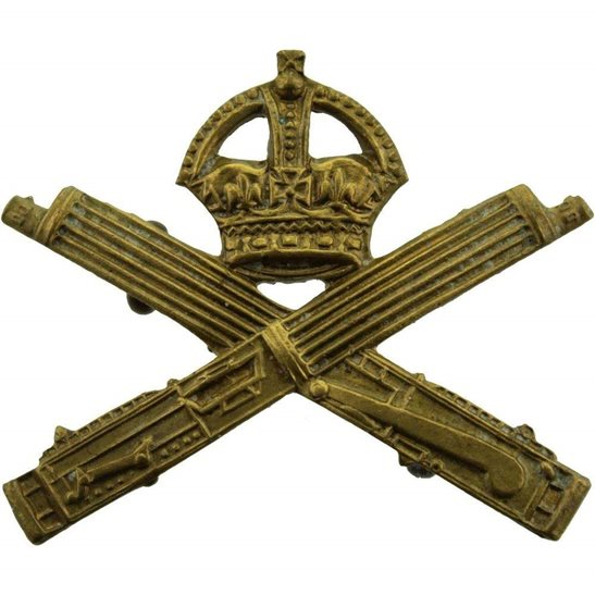 Machine Gun Corps MGC WW1 Machine Gun Corps MGC Collar Badge