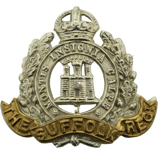 Suffolk Regiment Suffolk Regiment Cap Badge - EARLY LUGS VERSION