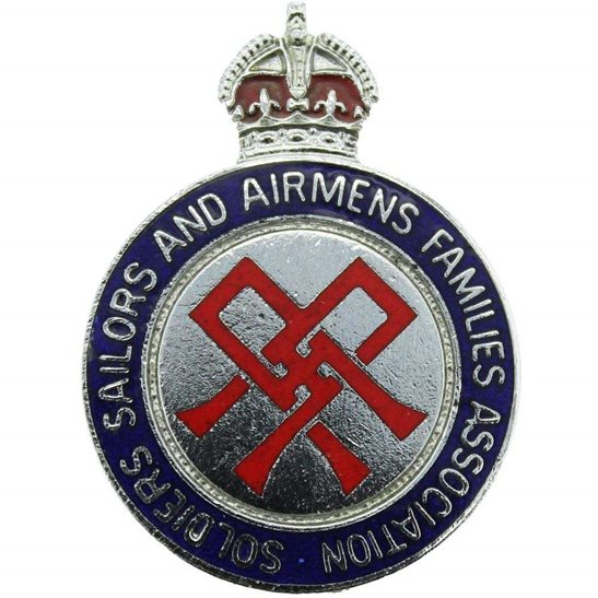 Soldiers, Sailors & Airmens Families Association Lapel Pin Badge
