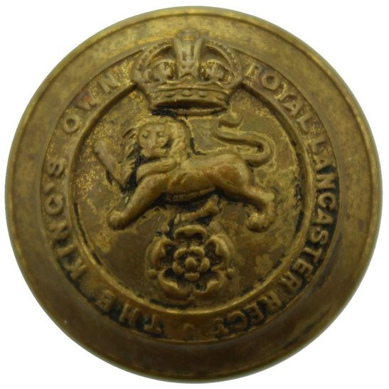 Kings Own Royal Lancaster Kings Own Royal Lancaster Regiment King's Tunic Button - 26mm