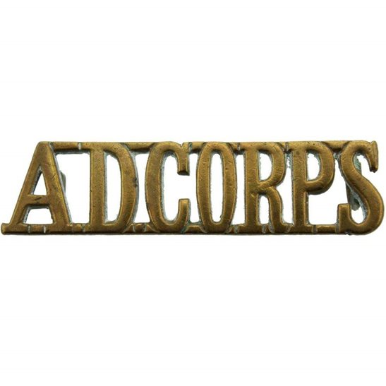Army Dental Corps Royal Army Dental Corps RADC Dentist Shoulder Title - FIRST PATTERN