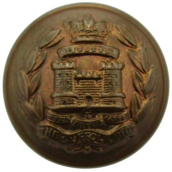 Suffolk Regiment VICTORIAN Suffolk Regiment Tunic Button JENNENS LONDON - 26mm