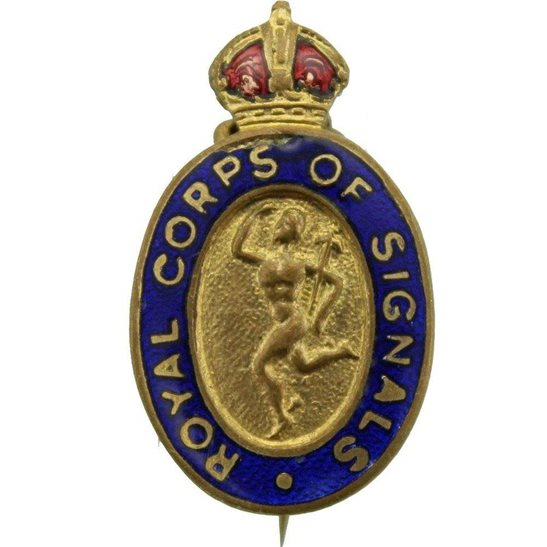 Royal Corps of Signals RCOS WW2 Royal Corps of Signals RCOS Sweetheart Brooch