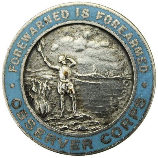 Royal Observer Corps WW2 Royal Observer Corps ROC Lapel Badge - LARGE VERSION