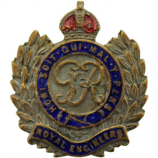 Royal Engineers WW2 Royal Engineers Corps (George VI) Sweetheart Brooch
