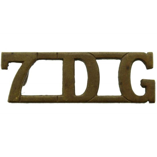 7th Dragoon Guards WW1 7th Dragoon Guards Regiment Shoulder Title