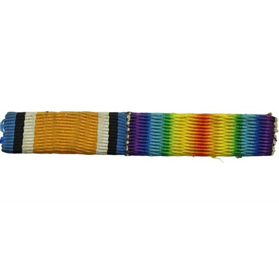 WW1 Pair (British War & Victory Medal) Ribbon Bar - SEW ON STYLE