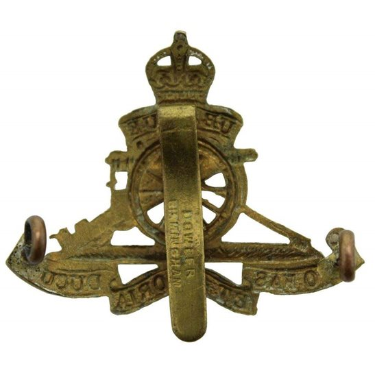 additional image for WW2 Royal Artillery Regiment SMALL Cap Badge - DOWLER BIRMINGHAM Makers Mark