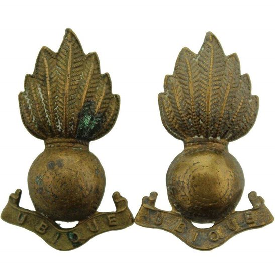 Royal Artillery Royal Artillery Regiment Collar Badge PAIR