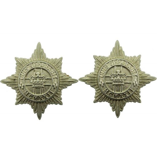 4th/7th Royal Dragoon Guards 4th / 7th Royal Dragoon Guards Regiment 4th/7th Collar Badge PAIR