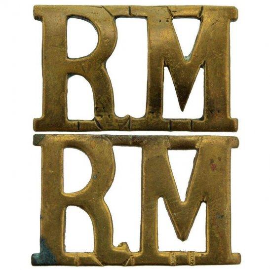 Royal Marines WW1 Royal Marines Corps RM Shoulder Title PAIR