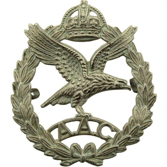 Army Air Corps AAC WW2 Army Air Corps AAC Cap Badge