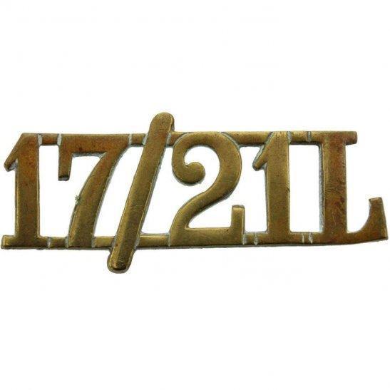 17th / 21st Lancers 17th / 21st Lancers (Deaths Head) Regiment Shoulder Title