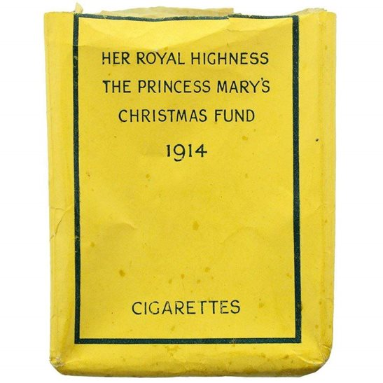 Princess Mary 1914 Christmas Tin Contents - EMPTY Cigarette Packet