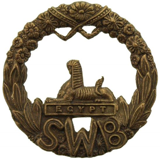 South Wales Borderers Regiment Welsh Collar Badge