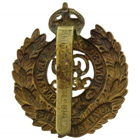 additional image for WW1 Royal Engineers Corps (George V) Cap Badge - SMITH & WRIGHT LD B'HAM