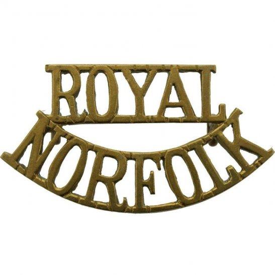 Norfolk Regiment WW2 Royal Norfolk Regiment Shoulder Title