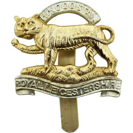Leicestershire Regiment Royal Leicestershire Regiment Staybrite Anodised Cap Badge - Staybright