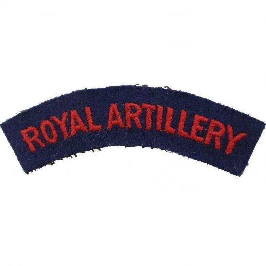 Royal Artillery WW2 Royal Artillery Regiment Cloth Shoulder Title Badge Flash