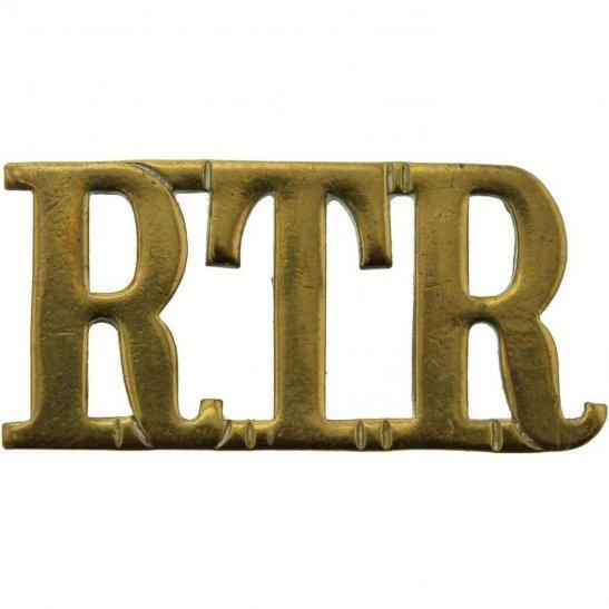 Royal Tank Regiment WW2 Royal Tank Regiment RTR Shoulder Title