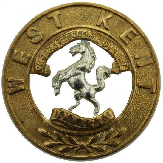 Royal West Kent VICTORIAN Queens Own Royal West Kent Regiment Helmet Plate Centre Cap Badge